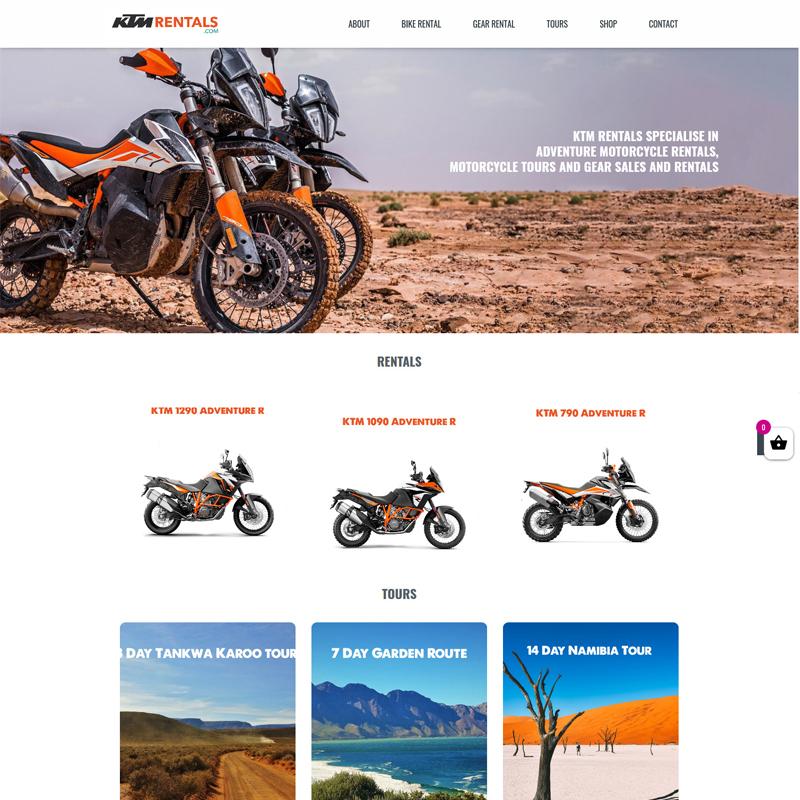 KTM Rentals Website